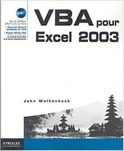 VBA POUR EXCEL 2003