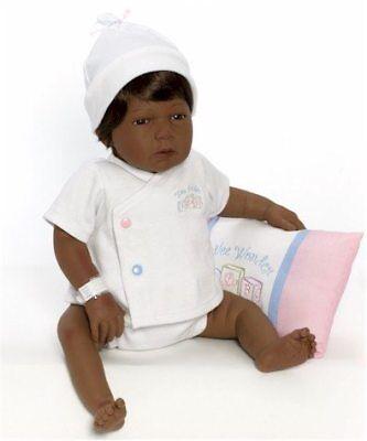 Sleepy Head - Brown/Brown - LM2557 - Newborn Nursery by Middleton Dolls ()