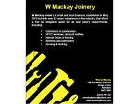 Reputable joinery company based in Aberdeen and surrounding areas providing all trades