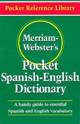 Merriam Websters Pocket Spanish English Dictionary  Flexible Paperback   Pocket