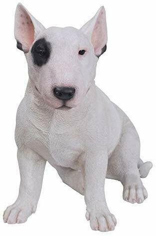 "Ebros Gift 15.7"" Tall Realist Bull Terrier Dog Home Decor Resin Figurine"