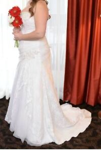 White Wedding Dress with Lace