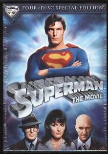 Superman The Movie-4 disc dvd set-Very good condition