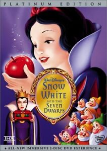 Snow White and the Seven Dwarfs-2 dvd Platinum Edition-like new