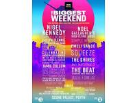 2 Saturday tickets to BBC2 Big Weekend at Scone Palace