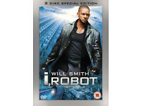 6 DVDs I, Robot U.S. Marshals, The Italian Job, War of the Worlds, Spy Game, The Exterminator