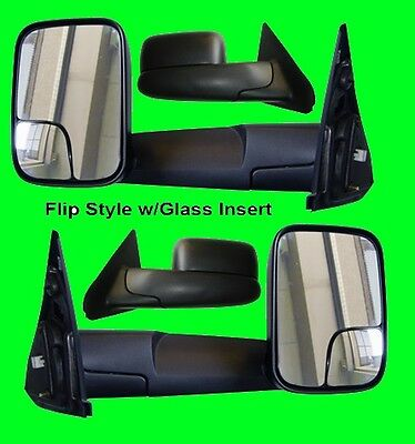 Dodge Ram 1500/2500 1998 1999 2000 2001 MANUAL REPLACEMENT Side Tow Mirror Pair