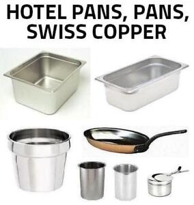RESTAURANT / CATERING ITEMS - Hotel Pans, Pans, Swiss Copper