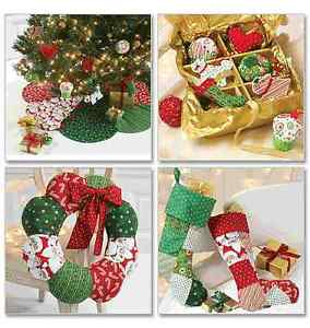 McCalls Sewing Pattern 6453 Christmas Ornaments, Wreath, Tree Skirt & Stocking