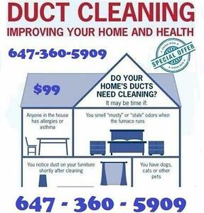 Unlimited Ducts & Vents Cleaning ONLY in 99.99$ | 647-360-5909