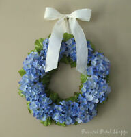 Blue Hydrangea Wreath/ Periwinkle Blue/ Spring/ Summer Wreath