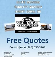 Elite Movers booking province wide