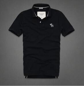 New 2013 Abercrombie & Fitch Polo Shirt Navy T-Shirt All Sizes Top Muscle Fit