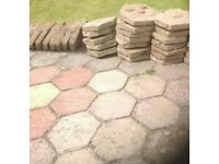 Hex shaped flag stones