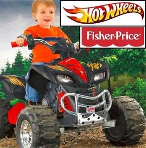 USED FISHER PRICE KAWASAKI RIDE ON W4716-996V 200474364 ATV KFX HOT WHEELS MOTORIZED KIDS 12V