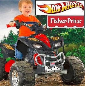 NEW FP KAWASAKI KFX ATV RIDE ON TOY FISHER PRICE HOT WHEELS MOTORIZED 12V BATTERY POWERED ATVS TOYS RIDE-ON RIDE-ONS