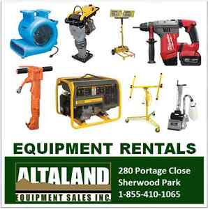 50% off your first Equipment Rental - Sherwood Park