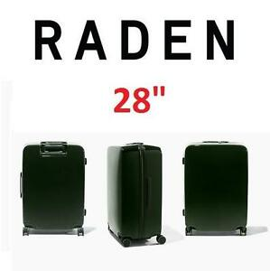 "NEW RADEN SMART LUGGAGE W/BATTERY - 124593209 - SPINNER SUITCASE WEIGH LOCATE AND CHARGE 28""x21""x13"" HUNTER GREEN"