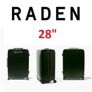 """NEW RADEN SMART LUGGAGE W/BATTERY - 124593209 - SPINNER SUITCASE WEIGH LOCATE AND CHARGE 28""""x21""""x13"""" HUNTER GREEN"""