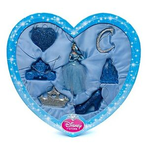 BNIP-Disney-Store-Christmas-7-Pack-Cinderella-Christmas-Tree-Baubles-Decorations