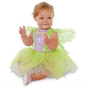 Disney-Store-Tinkerbell-Glow-In-The-Dark-Costume-Dress-Size-12-18M-2T-3T-NWT