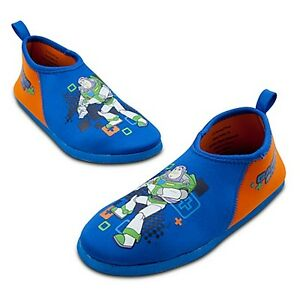 TOY-STORY-BUZZ-LIGHTYEAR-Boys-Swim-Shoes-Water-Aqua-Socks-Sz-9-10-11-or-12