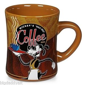 New Disney World Goofy Barista Really Swell Coffee Mug Park Exclusive