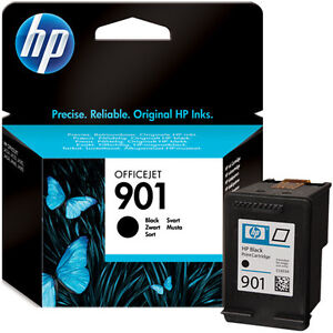 HP 901 (CC653AE)  Black Ink Cartridge, New Genuine Original OfficeJet 4500 J4500