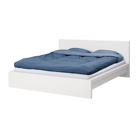 Ikea Malm Bed And Matress In White