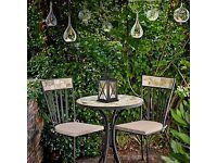 Petra Mosaic Bistro Dining Set - Marble topped, No cushions - John Lewis