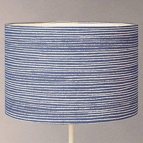New John Lewis Coastal Cleystripe Lamp Shade (Blue / White Stripe ...