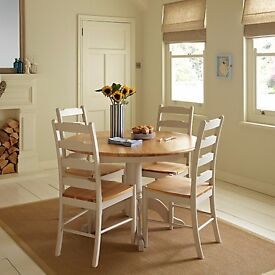 Regent Extending Dining Table - Oak and Cream - John Lewis