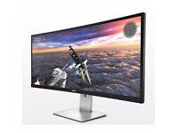 "Dell UltraSharp U3415W 34"" IPS LCD Monitor, built-in Speakers"