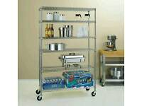 """6 tier 72"""" stainless steel unit"""