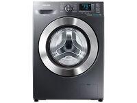 Samsung WF80F5E5U4X ecobubble Freestanding Washing Machine, 8kg Load, Graphite