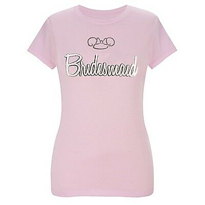 Disney Parks Authentic Wedding Bridesmaid Fitted Juniors Womens Tee S M L XL XXL