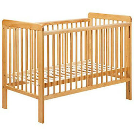 Baby cot from John Lewis - oak color
