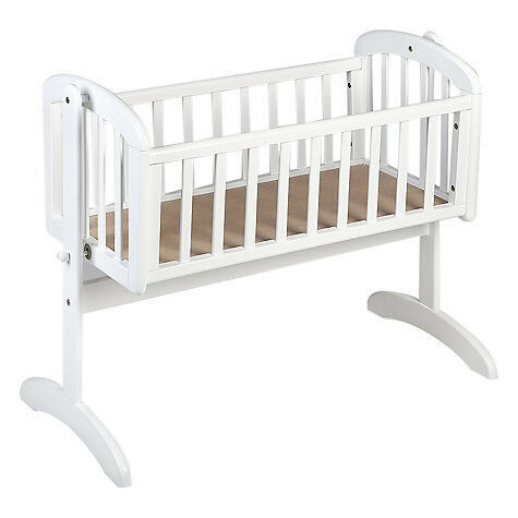 John Lewis Anna white swinging crib cot