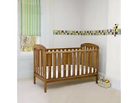 JOHN LEWIS RACHEL COTBED - CONVERTS TO TODDLER BED - INCLUDES MATTRESS