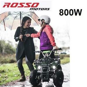 NEW ROSSO EQUAD 36V KIDS ATV EQUADX 234723595 800W MOTOR OUTDOOR USE DISC BRAKES ALL TERRAIN