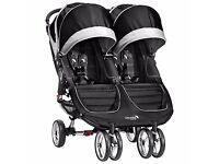 double buggy with raincover free