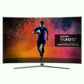 """Samsung 65"""" Curved SUHD smart 3D Wi-Fi built in Camera new tv comes in original box with all"""