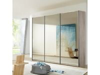 FLAT PACK SLIDING WARDROBE/ BRAND NEW WITH NEXT DAY DELIVERY