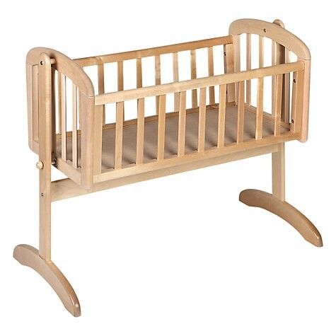 Crib John Lewis Swinging Crib with Mattress in excellent condition