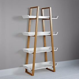 Airframe Tall Bookcase by John Lewis (white and wooden)