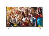 "Panasonic Viera TX-65CR730B LED Curved 4K Ultra HD Smart TV, 65"""