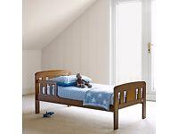 John Lewis Boris Toddler Bed, Dark Wood. Great Condition.