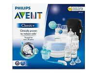Avent classic + bottle feeding essential kit brand new