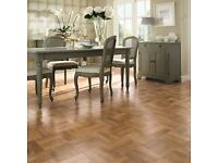 Karndean flooring - Luxury Vinyl Tile Parquet - Blond Oak. New. 1.7 m2
