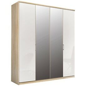 Moreno 4 Folding Door Mirror Wardrobe